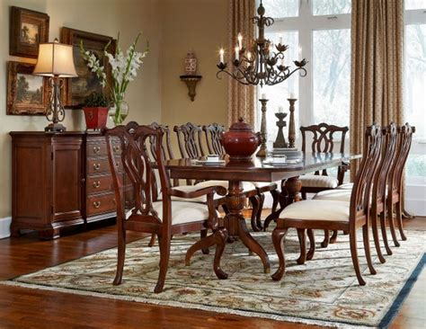 american drew dining room set cherry grove classic antique cherry pedestal dining room