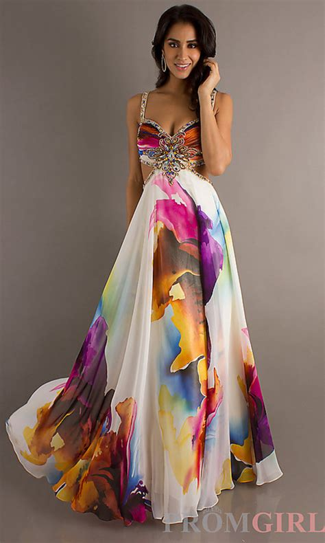 colorful prom dresses dress formal colorful pattern prom dress