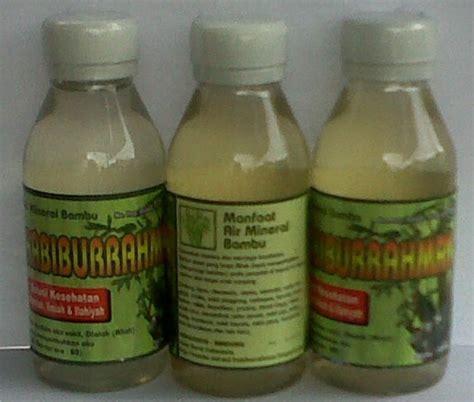 kebun bambu air mineral bambu sebagai obat herbal