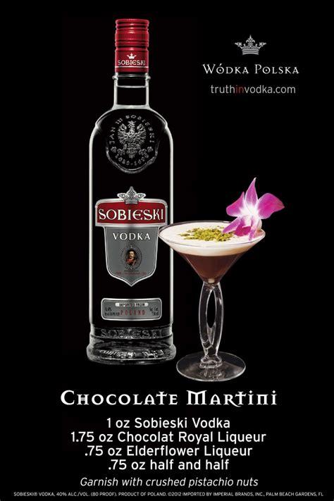 a chocolate martini with sobieski vodka chocolat royal