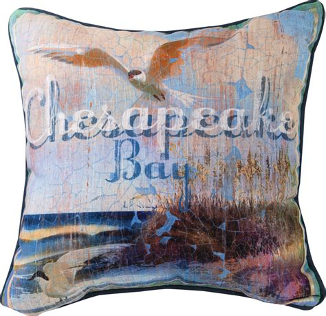 chesapeake bay home decor chesapeake bay pillow 18x18 mwwslchsb 7 15 toys