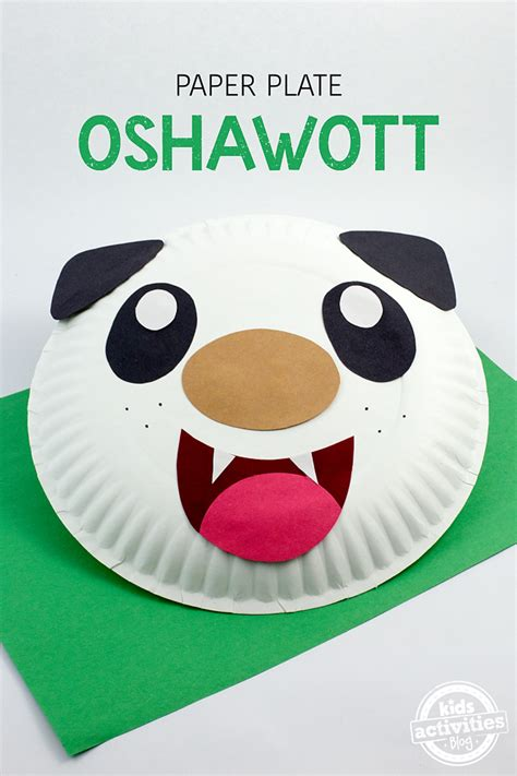 How To Make Paper Dish - paper plate oshawott craft