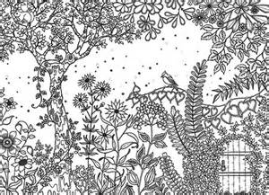 coloriages jardin secret adultes