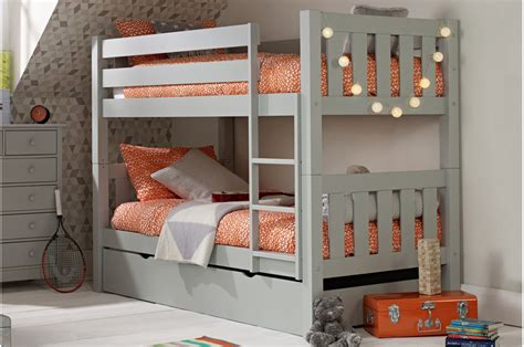 gray bunk beds jubilee bunk bed in soft grey