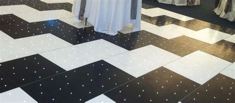 zig zag starlit black white led dance floor furniture4events
