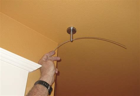 hanging curtains with wire installing cable wire for hanging curtains sew4home