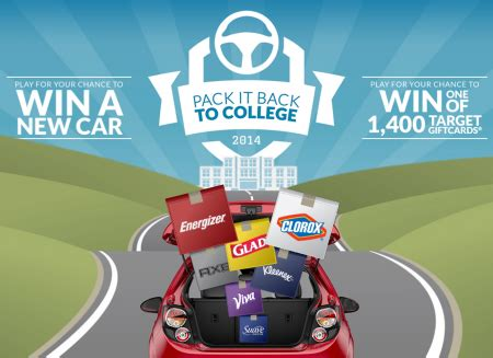 Instant Win Sweepstakes 2014 - sweepstakes pack it back to college instant win