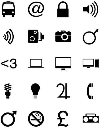 imagenes y simbolos universales word