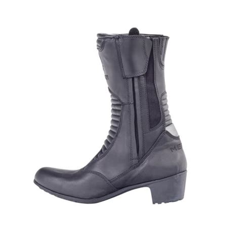 heeled motorcycle boots merlin tilly waterproof black leather heeled