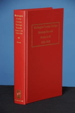 Giles County Records Washington County Marriage Records Books A M 1828 1938 Glynda Giles
