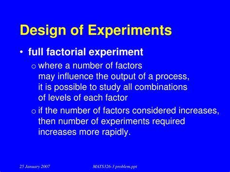 design of experiments powerpoint ppt problem solving techniques powerpoint presentation