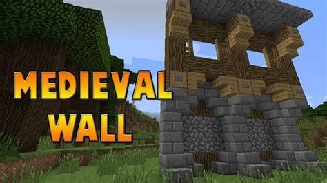minecraft walls tutorial minecraft medieval wall design tutorial 6 youtube