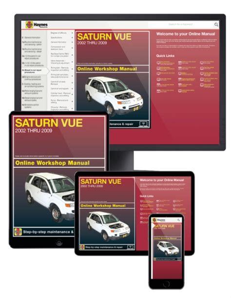 online car repair manuals free 2002 saturn vue security system saturn vue online service manual 2002 2009
