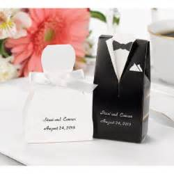 Boxes For Wedding Favors by Wedding Favor Boxes Personalized Tux And Gown Zbk4911p