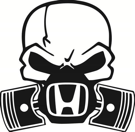 Totenkopf Sticker by Large Skull Piston Gas Mask Decal Sticker Car Honda Jdm