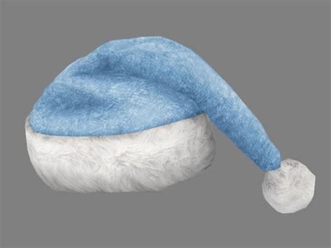 blue santa hats tag hats