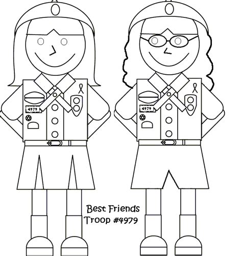 brownie girl scouts coloring pages coloring home