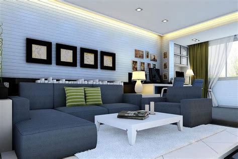 Apply The Blue Color For A Cool Living Room Interior by Apply The Blue Color For A Cool Living Room Interior Grey