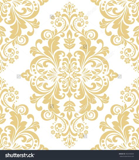 floral pattern in gold floral pattern wallpaper baroque damask seamless vector