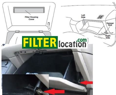 toyota venza filter housing how to change the cabin filter on toyota venza