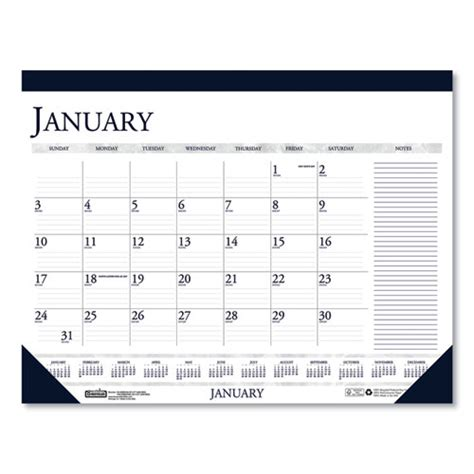 recycled  color monthly desk calendar  large notes