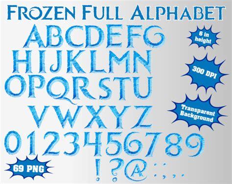 printable frozen font printable frozen letters font alphabet bing images