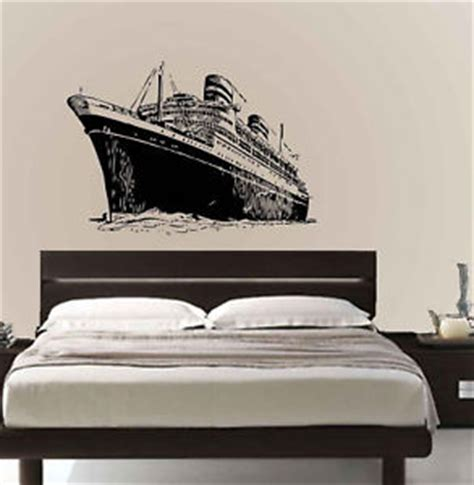 ship decor home vinyl wall decal sticker titanic cruise ship removable