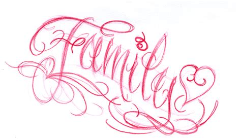 family script tattoo designs family script by joshdixart on deviantart