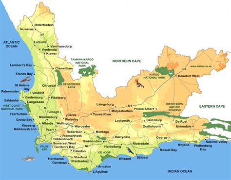 africa map cape of maps update 800600 south africa tourist attractions map