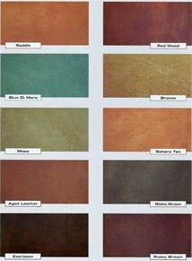 stained concrete colors concrete acid stain color chart countertops backsplash