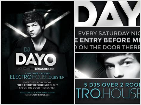 flyer design dj dayo dj flyer template flyerheroes
