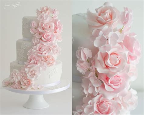 Pink Flower Wedding Cake by Pink Flower Wedding Cake Www Pixshark Images