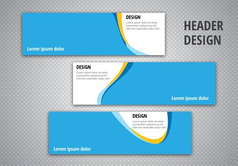 header layout free header designs vector download free vector art