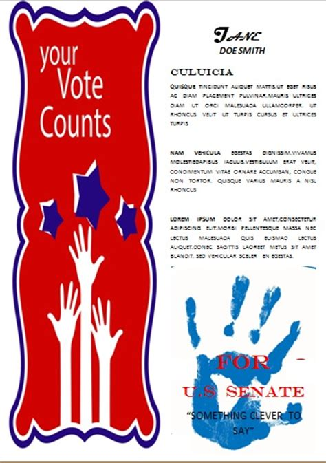 election caign poster template caign with these free political caign flyer