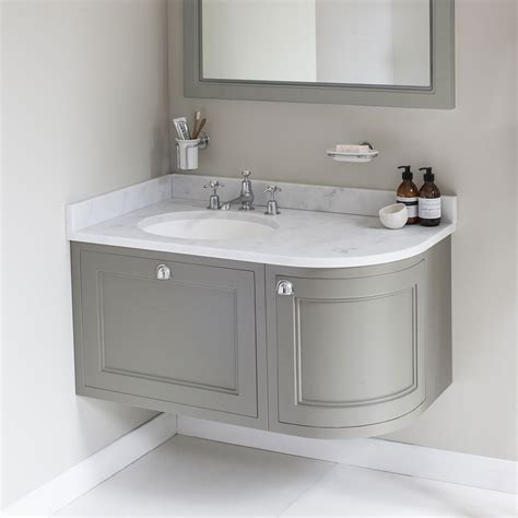 bathroom corner vanity unit burlington wall hung 100 curved corner vanity unit