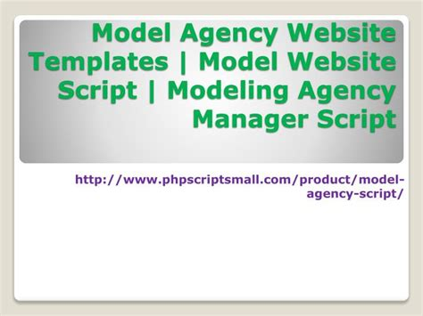 Agency Manager by Ppt Model Agency Website Templates Model Website Script Modeling Agency Manager Script