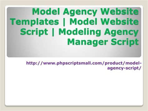 ppt model agency website templates model website script