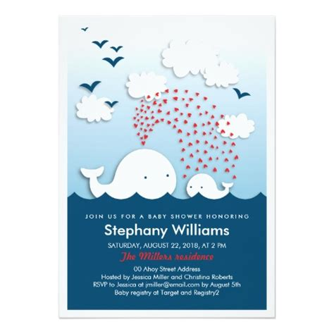 Stylish Baby Shower by White Whales Stylish Baby Shower Invitation Card