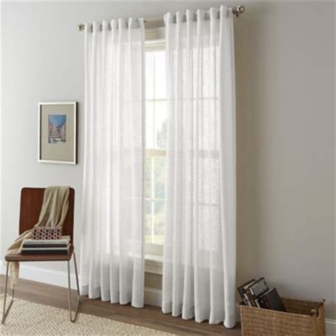 shimmer sheer curtains shimmer sheer rod pocket window curtain panel bed bath