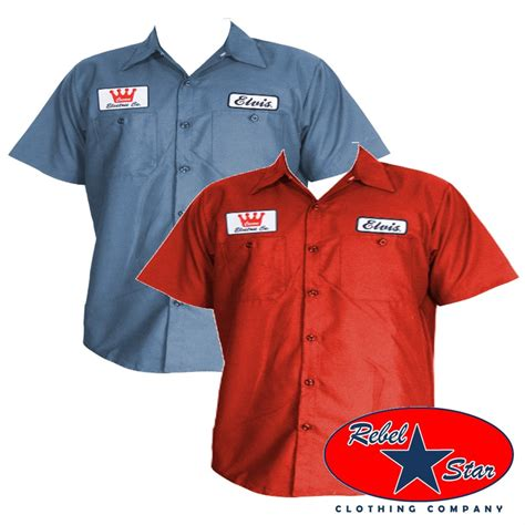 How To Work At Garage Clothing Elvis Work Shirt Rockabilly Bowling Retro 50s 60s Kustom