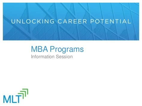 Programs To Help Prepare For Mba by Mlt Mba Prep Presentation