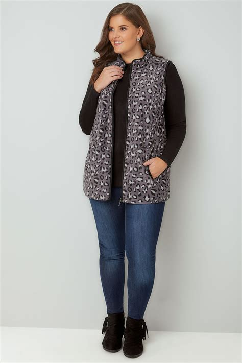 Where Can I Use My Target Visa Gift Card - black grey animal print fleece gilet plus size 16 to 36