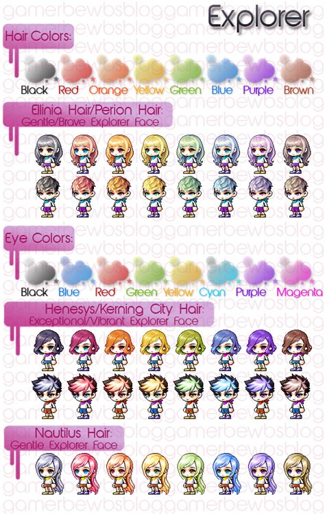maplestory haircuts character creation character creation and nautilus
