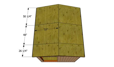 how to build a roof for a shed howtospecialist how to