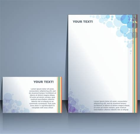 business templates with cover brochure design vector free