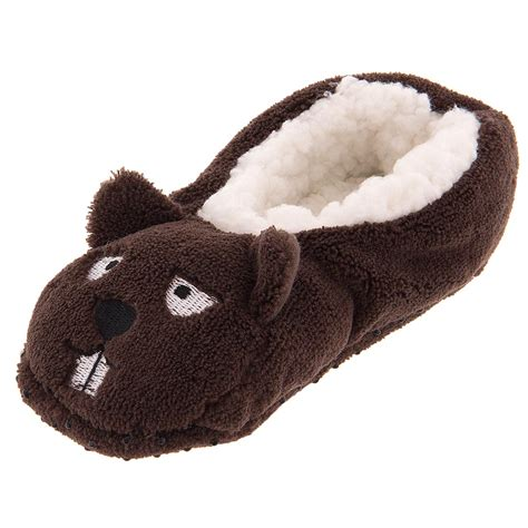 house shoes boys gertex toddler boys brown beaver soft slippers