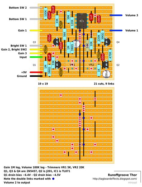 vero layout guide guitar fx layouts runoffgroove thor