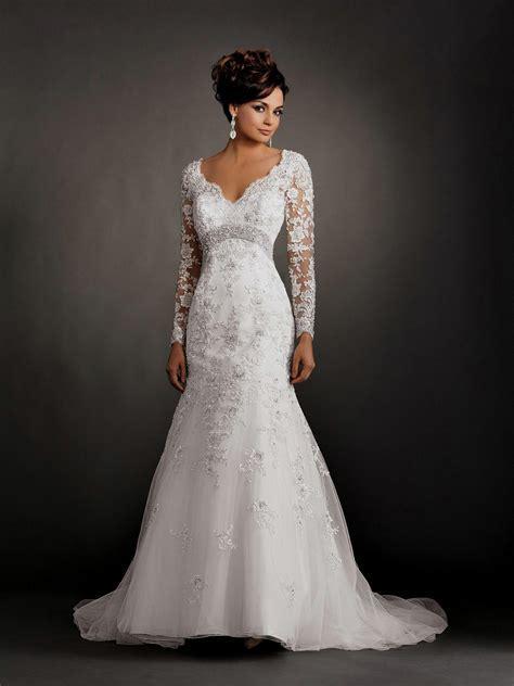 wedding dresses mermaid with sleeves Naf Dresses