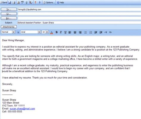 collection of solutions email cover letter resume attached in simple