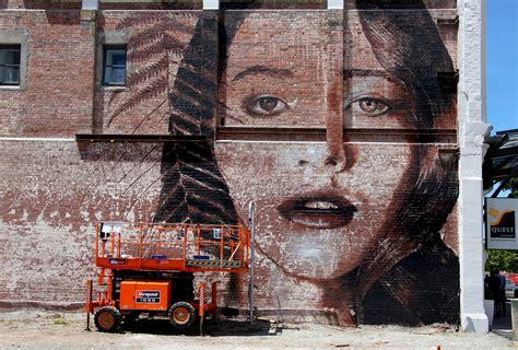 girl   brick wall australian street artist rone   flickr